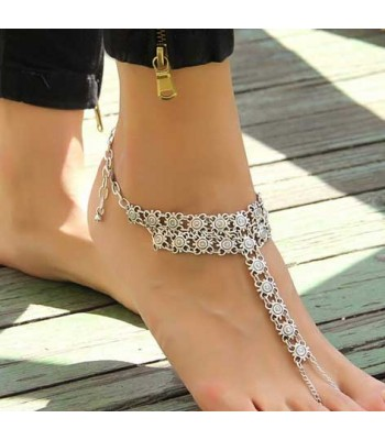 Vintage Silver Anklet Bracelet for Women