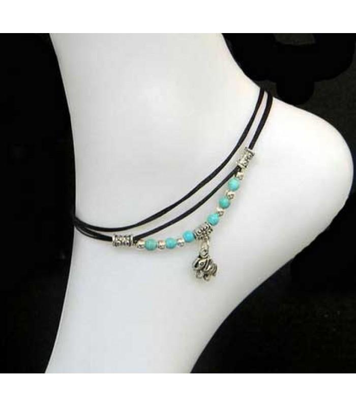 Tibetan Elephant Anklet Bracelet