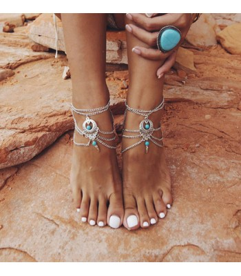 Vintage Bohemian Ankle Bracelet for Women