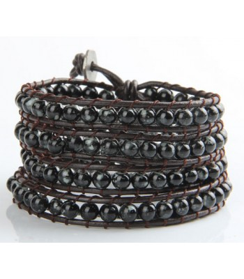 Black Beaded Wrap Bracelet
