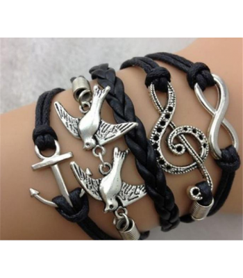 Infinity Bracelet in Black for Girls