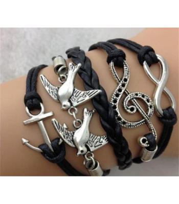 Infinity Bracelet in Black