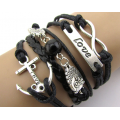 Leather Charm Bracelets for Girls