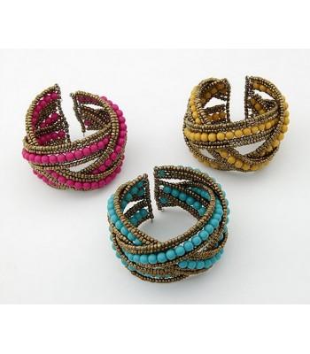 Chunky Bohemian Beaded Bracelet