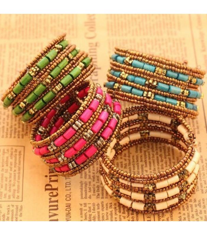 Bohemian Multi-Layer Beaded Bracelet