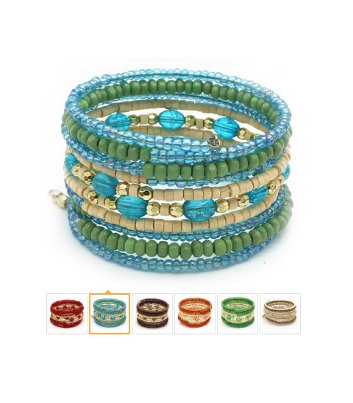 Womens Indian Boho Bead Bracelet