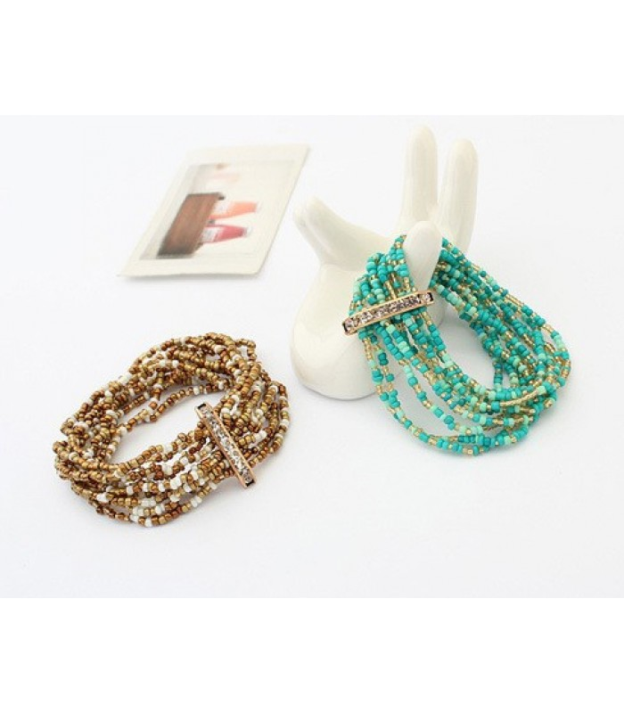 Womens Korean Bohemian Beaded Bracelet