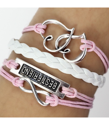 Pink Leather Wrap : Best Friend Love