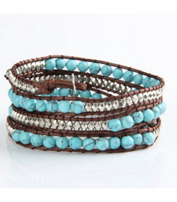 Turquoise Glass Bead Bracelets