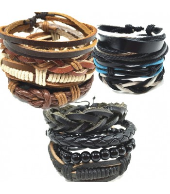 Leather Punk Wrap Bracelet