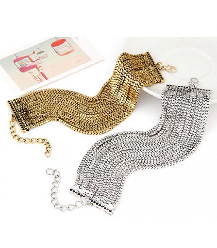 Womens 14 Layer Chain Bracelet for Women