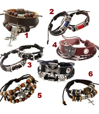 Retro Leather Mens Bracelets for Men