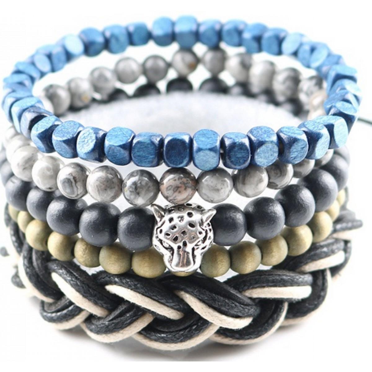 Mens Beaded Bracelet : Tiger Bracelet for Men