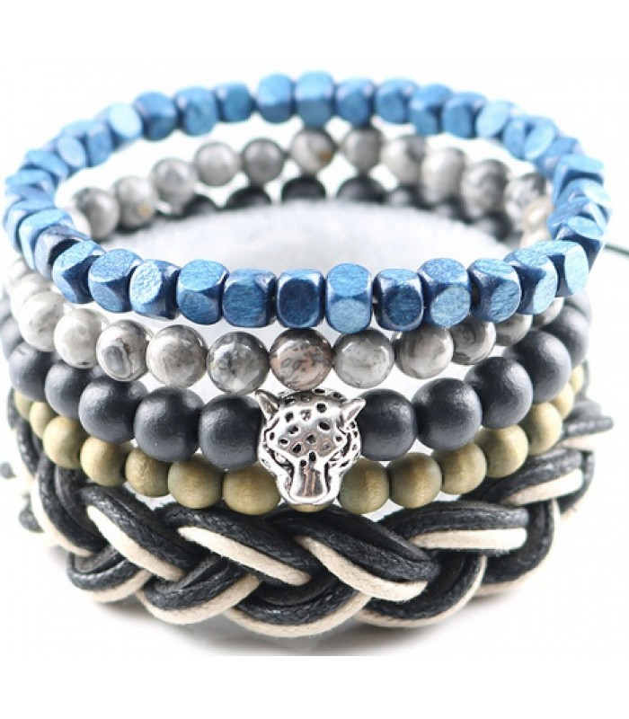 Mens Beaded Bracelet : Tiger Bracelet for Men