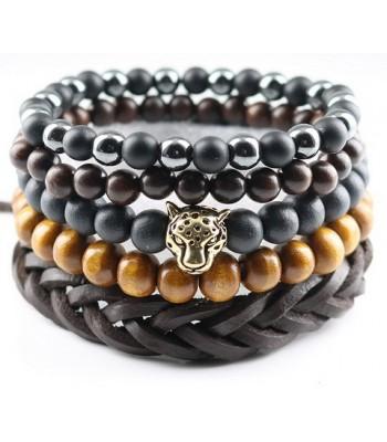 Brown Lion Bracelet for Men
