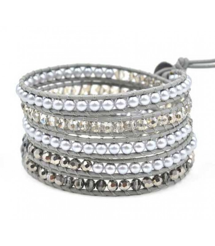Silver Bead Bracelet for Ladies