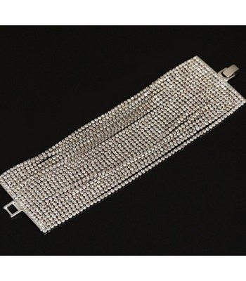 Womens 22 Layer Crystal Bracelet