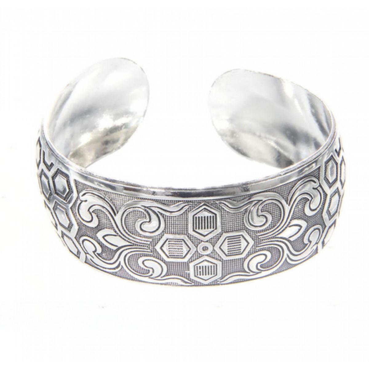 b5c1bddfb Tribal Bracelets : Chunky Silver Bracelet