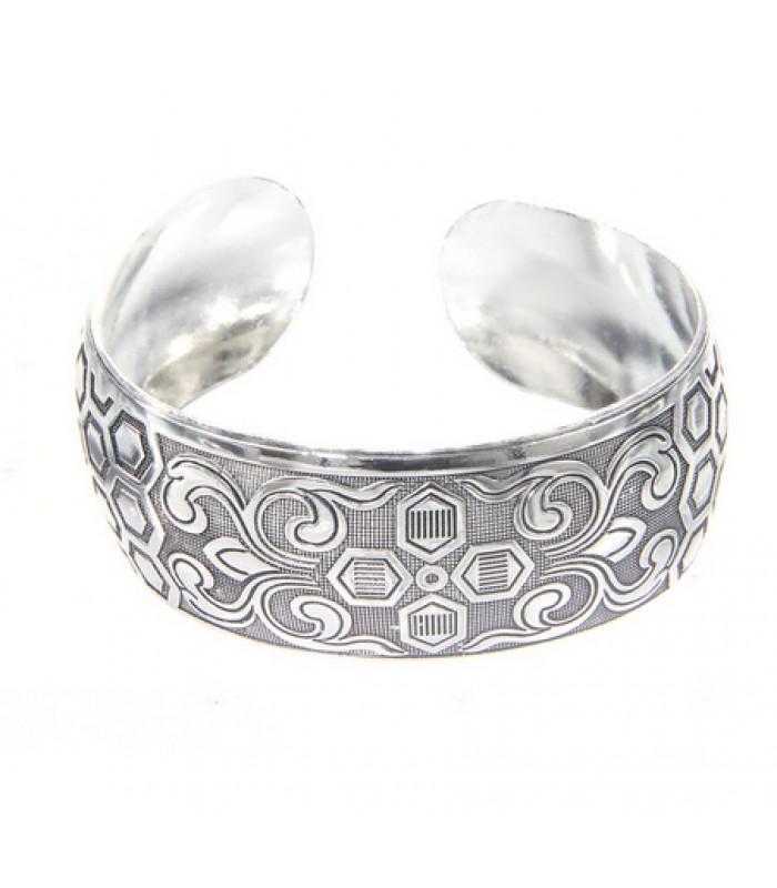 Tribal Bracelets : Chunky Silver Bracelet