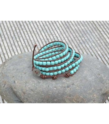 Turquoise Bead Bracelet for Ladies