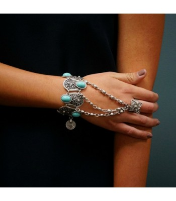 Ladies Vintage Chain Bracelet Ring