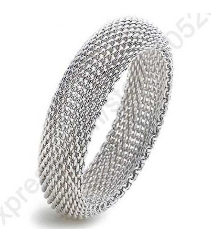 Bendy Silver Mesh Bracelet for Women
