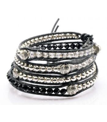 Black Budda Wrap Bracelet