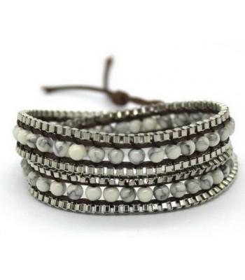 Marble Beaded Wrap Bracelet