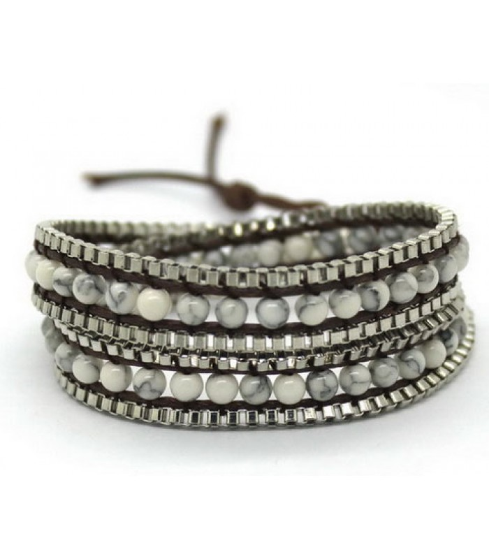 Beaded Wrap Bracelet for Ladies