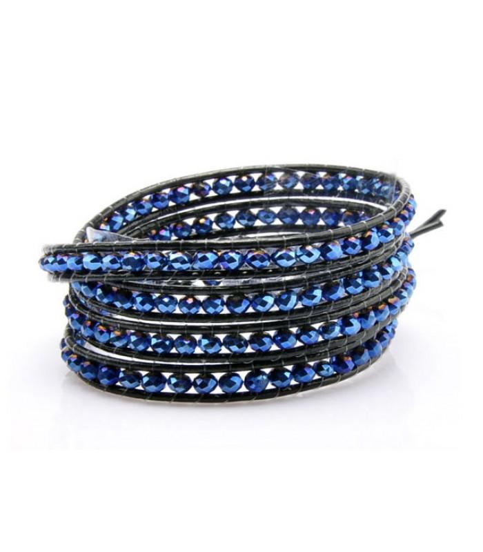 Ladies Blue Beaded Bracelet for Women