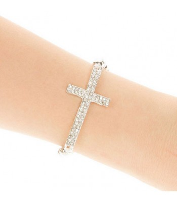 Crystal Cross Beaded Bracelet