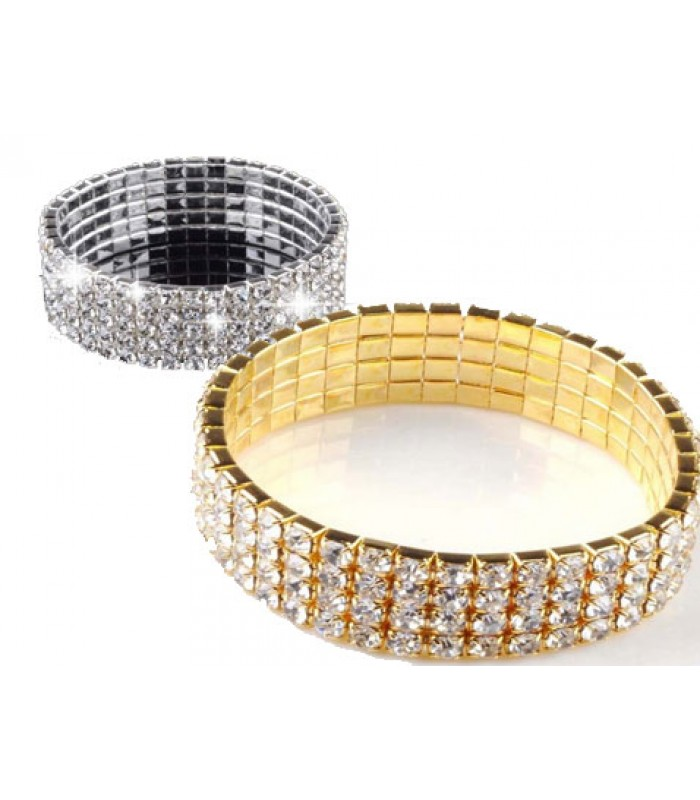 Silver Crystal Bling Bracelet for Women