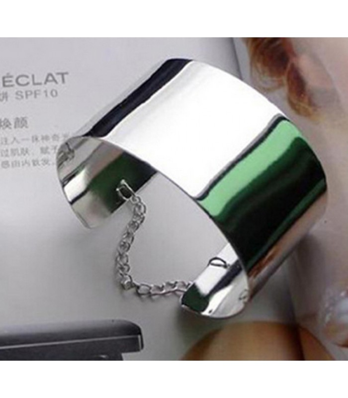 Solid Silver Steele Bangle for Women