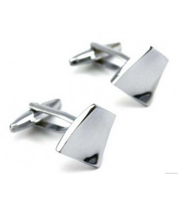 Bent Square Silver Cufflinks