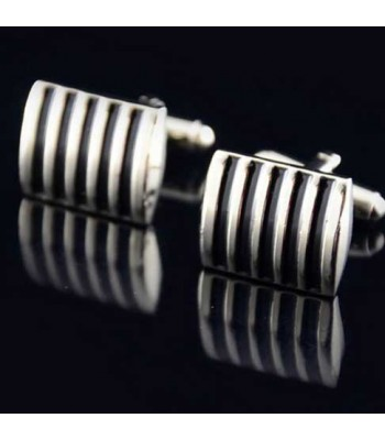 Black Stripe Cheap Mens Cufflinks