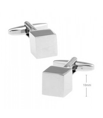 Cube Silver Cufflinks for Men
