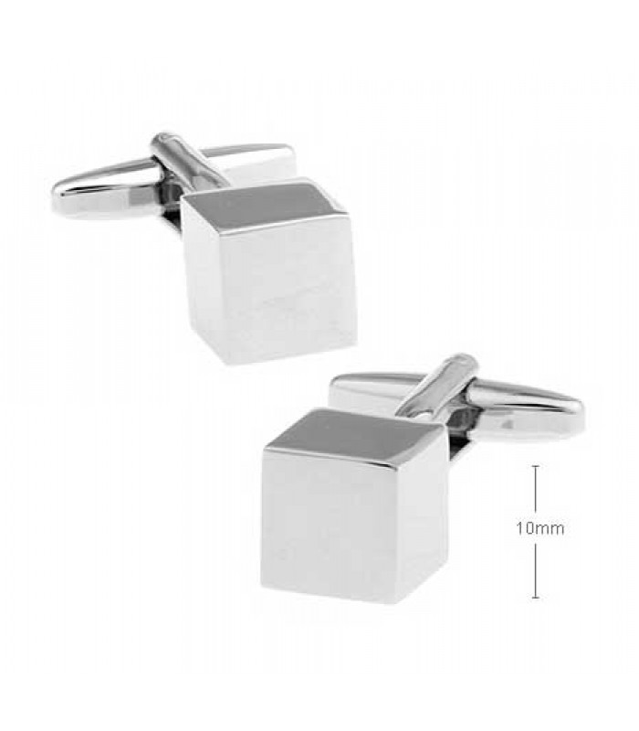 Cube Silver Cufflinks for Men