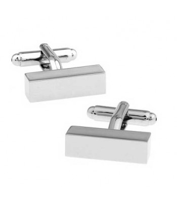 Rectangle Silver Cufflinks for Men