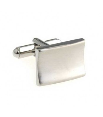 Bent Chrome Cufflinks