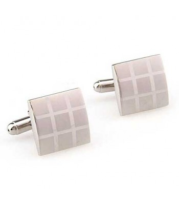 Sudoku Silver Cufflinks for Men