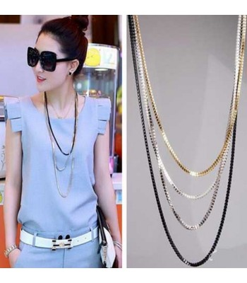 4 Layer Chain Necklace for Women