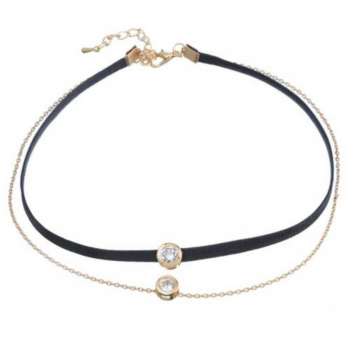 Black Diamond Choker Necklace for Women