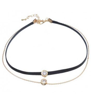 Black Diamond Choker Necklace for Women