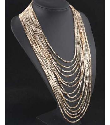 Gold Layered Chain Necklace