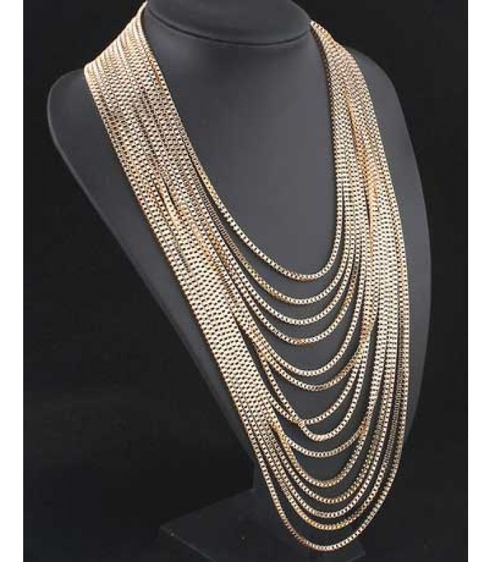 Womens Gold Layered Chain Necklace