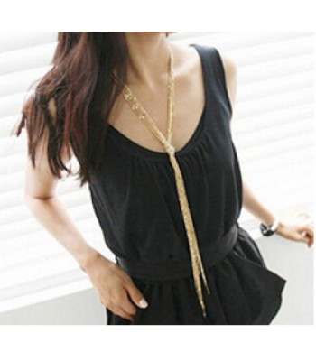 Knotted Tassel Necklace for Women