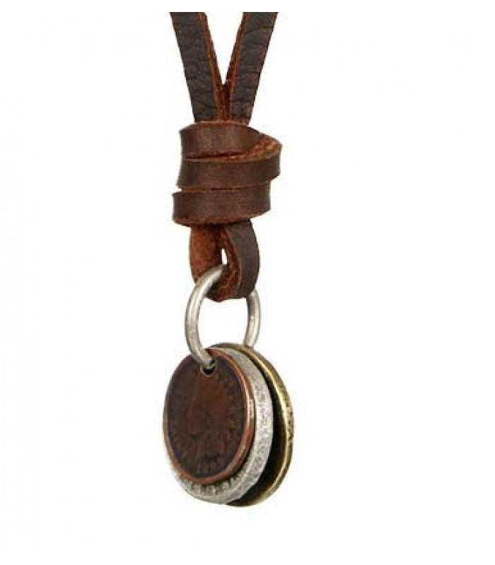 Coin Necklace Pendant for Men