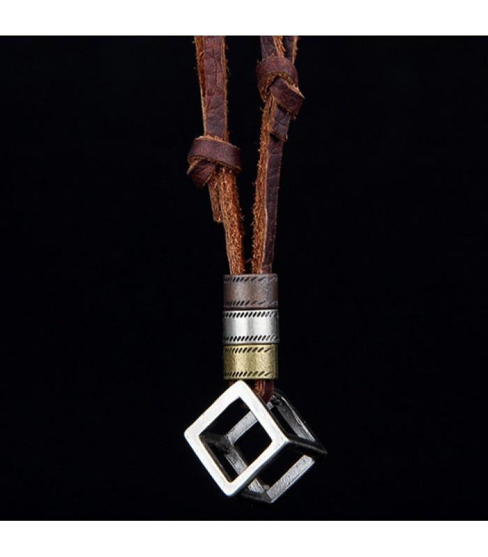 Mens Necklance Pendant for Men : The Cube