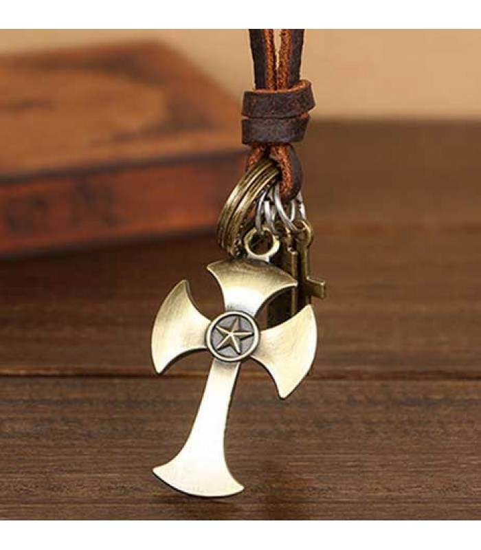 Mens Pendant Necklace Cross