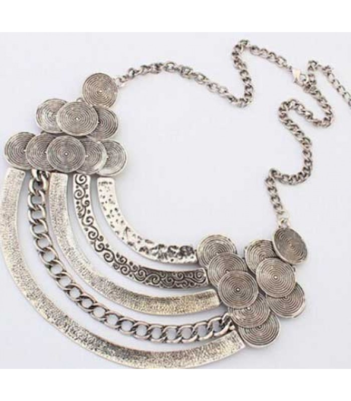 Vintage Silver Collar Necklace for Women